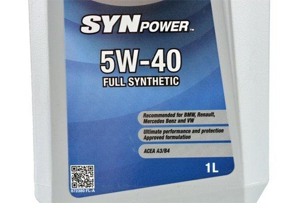 VALVOLINE SYNPOWER 5W40 1L
