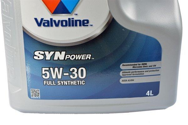 VALVOLINE SYNPOWER 5W30 FULL SYNTHETIC 5L KRAKÓW