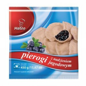 7006 Mateo Pierogi z Jagodami 450g (1x12)