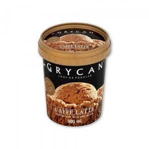 9205 Lody GRYCAN caffe latte PREMIUM 500 ml 1/6
