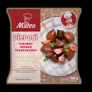 7039 MATEO Pierogi kakaowo serowo truskawkowe 400g 1x12