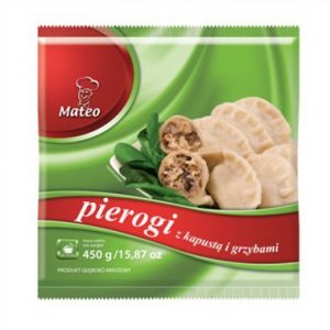 7009 Mateo Pierogi z Kapustą i Grzybami 450g (1x12)