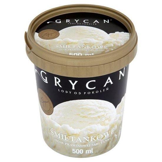 9210 Lody GRYCAN smietankowe PREMIUM 500 ml 1x6