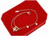 3486 Bransoletka złota celebrytka stal chirurgiczna