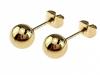 2260 Kolczyki celebrytki złote stal chirurgiczna