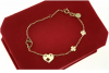 3055 Bransoletka złota celebrytka stal chirurgiczna Blueberry