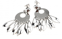 EARRINGS SILVER GOLD PLATED WHITE GOLD