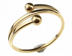 ring 18,00mm gold stainless steel