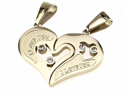 gold pendant stainless steel