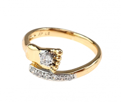 gold ring 18,00mm. gold-plated engagement xuping