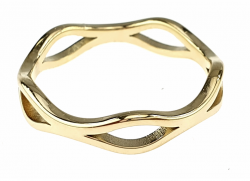ring 18,30mm gold stainless steel