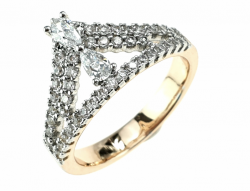 gold ring 19,30mm. gold-plated engagement xuping