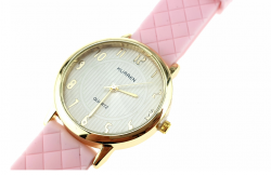 328c Damski zegarek złoty gumowy KURREN