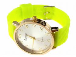 2234 Damski zegarek złoty gumowy KURREN
