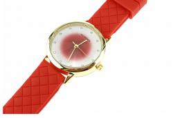 1365b Damski zegarek złoty gumowy KURREN