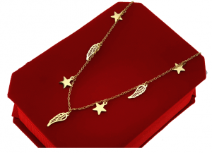 GOLD CHAIN NECKLACE celebrity STAINLESS STEEL