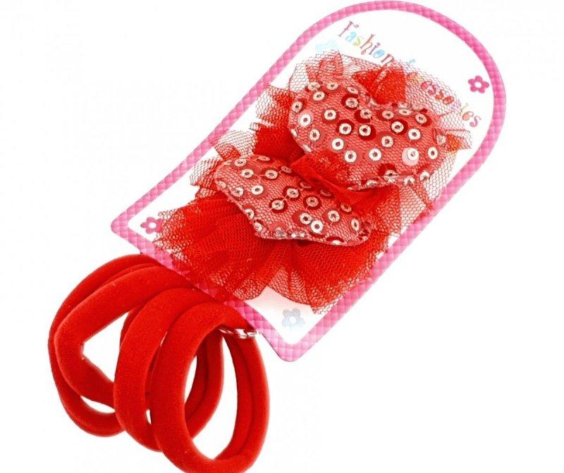 088 Komplet dziewczęcy gumki i spinki  do włosów