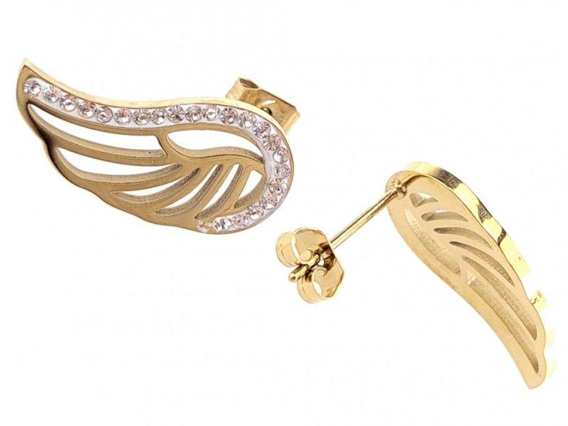 3053 Kolczyki celebrytki złote stal chirurgiczna