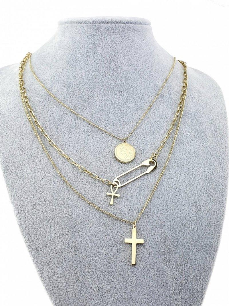 1807 Złoty łańcuszek celebrytka naszyjnik stal chirurgiczna