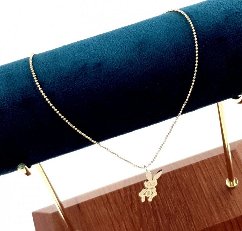0576 Złoty łańcuszek celebrytka naszyjnik stal chirurgiczna