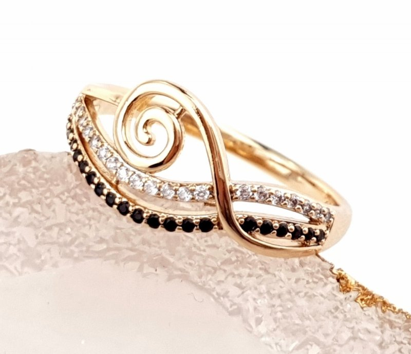 1927A  Pierścionek 16,00mm złoty zaręczynowy pozłacany