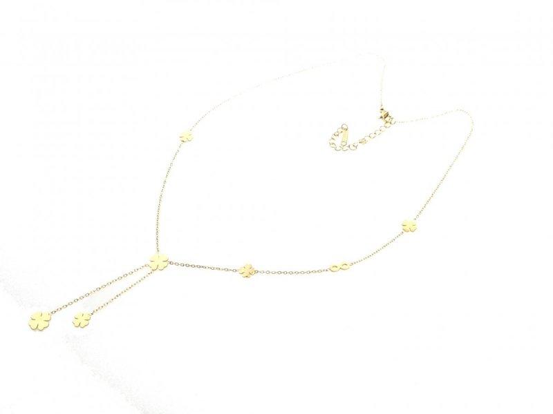 540 Złoty łańcuszek celebrytka 47cm naszyjnik stal chirurgiczna