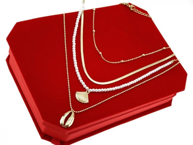 3248 Złoty łańcuszek celebrytka naszyjnik stal chirurgiczna