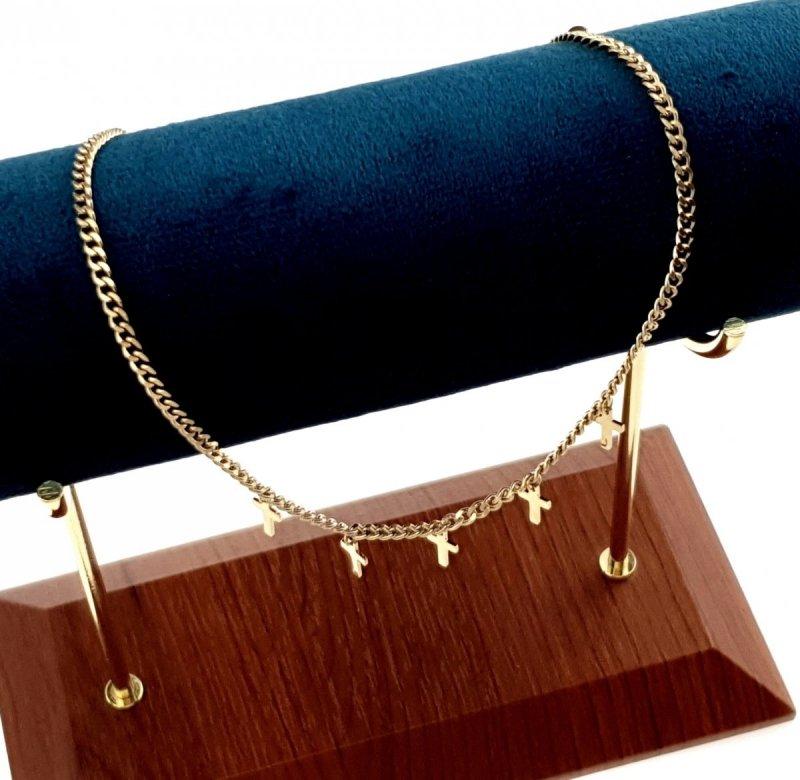 1050 Złoty łańcuszek celebrytka naszyjnik stal chirurgiczna