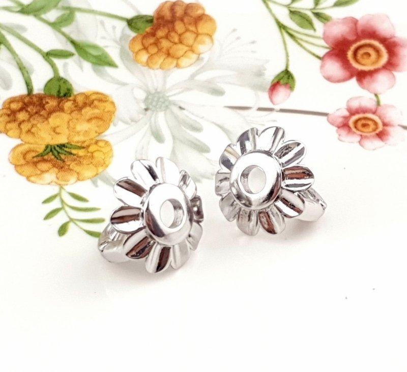 076 Ekskluzywne kolczyki srebrne   pozłacane