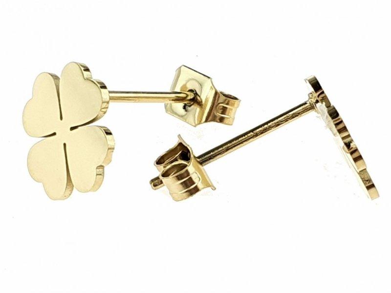 2888 Kolczyki celebrytki złote stal chirurgiczna