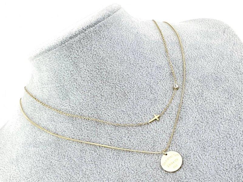 1884 Złoty łańcuszek celebrytka naszyjnik stal chirurgiczna
