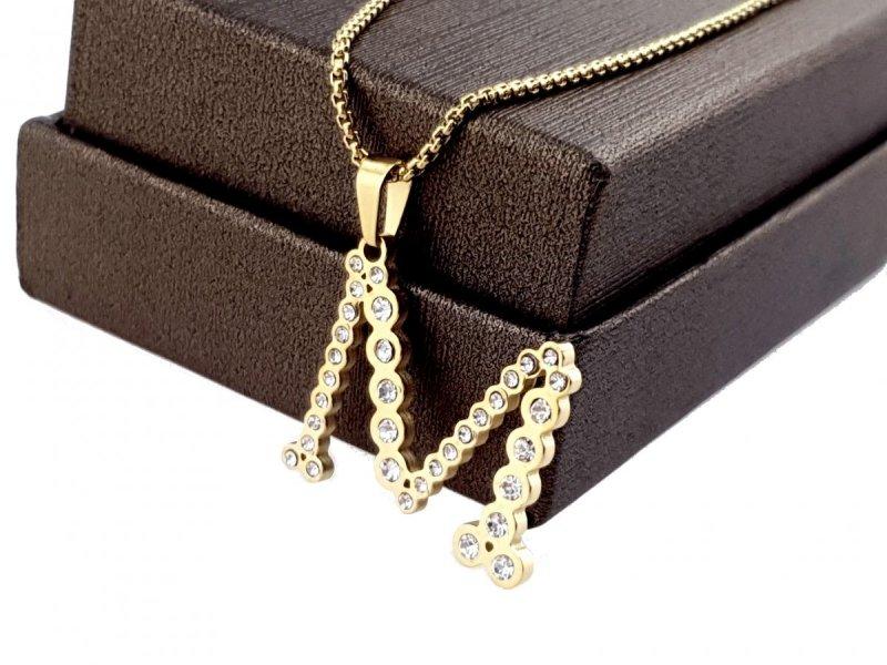 1541 Złoty łańcuszek  celebrytka naszyjnik stal chirurgiczna