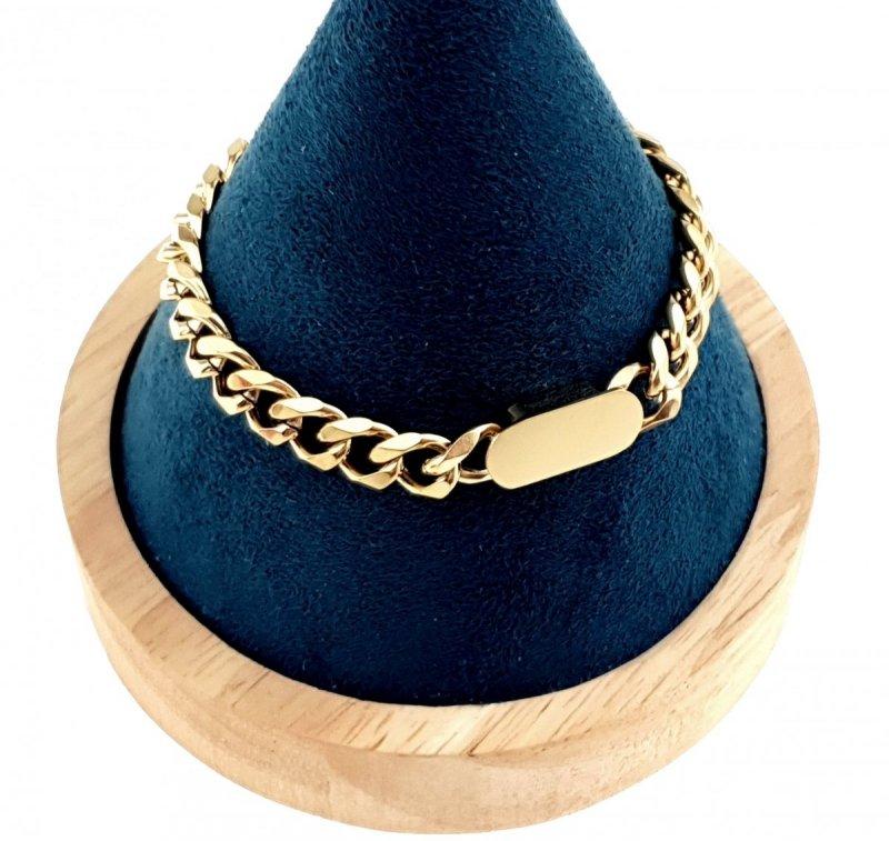 1832 Bransoletka złota celebrytka 20cm stal chirurgiczna