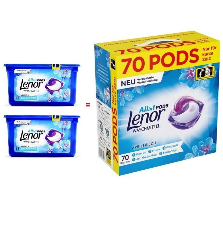 Lenor Aprilfrisch kapsułki do prania All in 1 Box 70 szt.