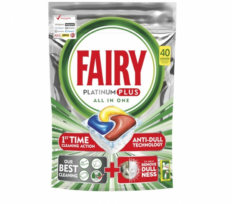 Fairy Platinum Plus Lemon kapsułki do zmywarki 40 szt..