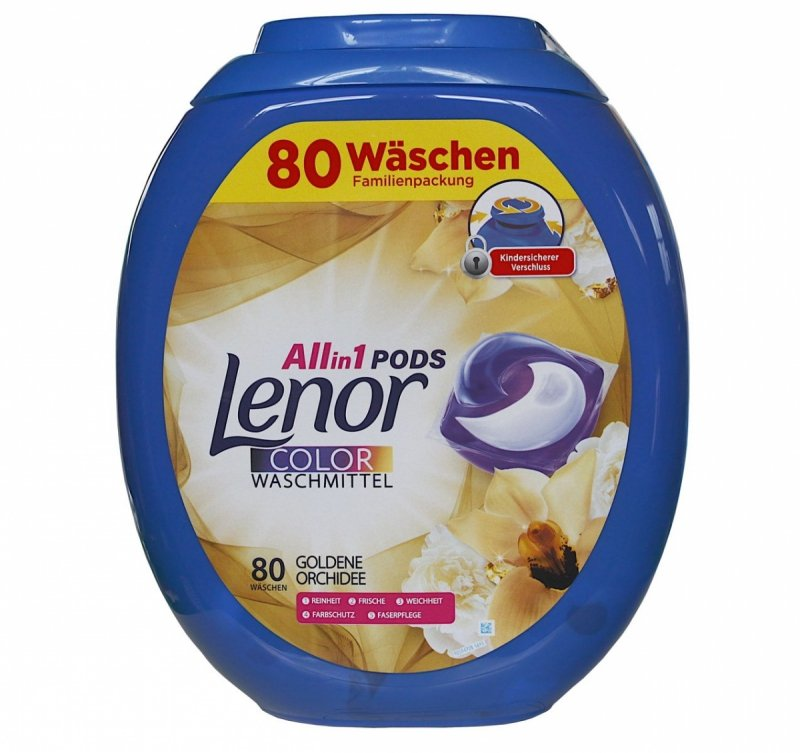 Lenor All in1 Color Goldene Orchidee kapsułki do prania 80 szt.