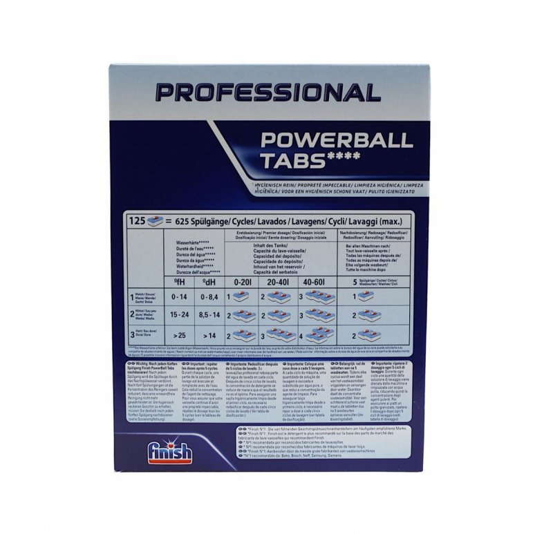Finish Professional Powerball tabletki do zmywarki 125 tabs