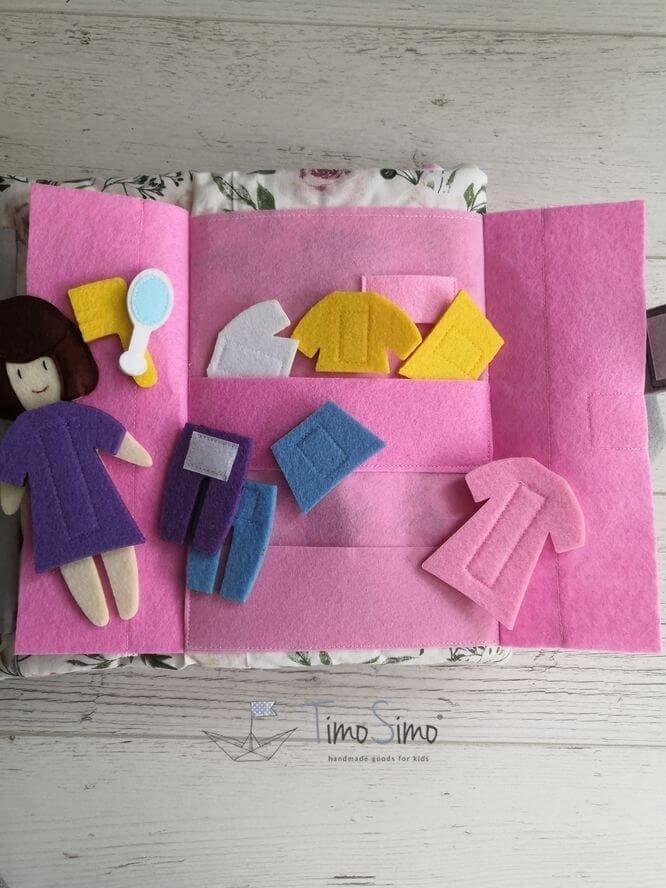 książeczka sensoryczna quiet book dla dziewczynki 3+