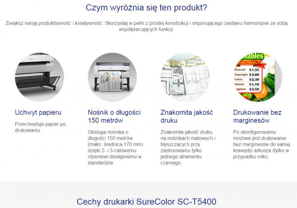 "Ploter EPSON SureColor SC- T5400 36"" nowy"