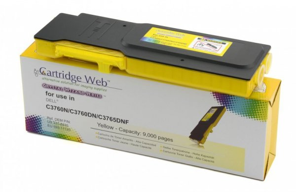 Toner Cartridge Web Yellow Dell 3760 zamiennik 593-11120