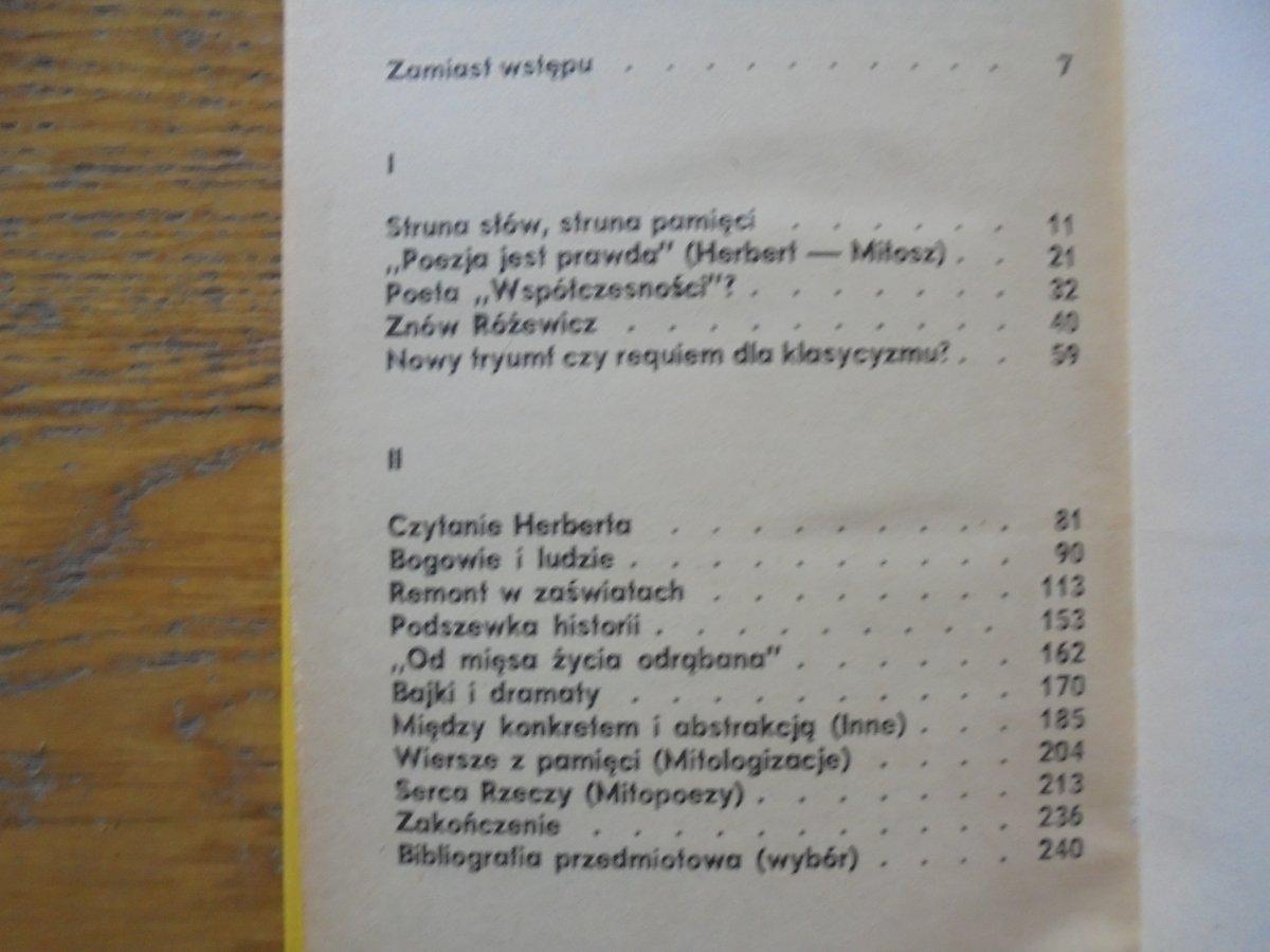 Andrzej Kaliszewski Gry Pana Cogito Zbigniew Herbert Miłosz Różewicz Dedykacja Autorska