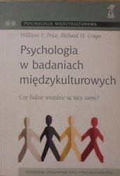 William F. Price, Richard H. Crapo • Psychologia w badaniach międzykulturowych