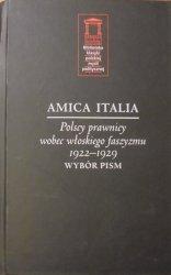 Amica Italia • Polscy prawnicy wobec włoskiego faszyzmu 1922-1929. Wybór pism