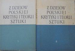 Z dziejów polskiej krytyki i teorii sztuki [komplet]
