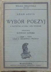 Adam Asnyk • Wybór poezyj z portretem autora i 4-ema rycinami