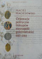 Maciej Maciejowski • Orientacje polityczne biskupów metropolii gnieźnieńskiej 1283-1320