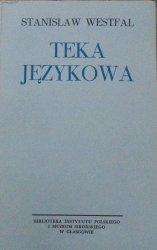 Stanisław Westfal • Teka językowa
