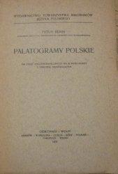 Tytus Benni • Palatogramy polskie [1931]