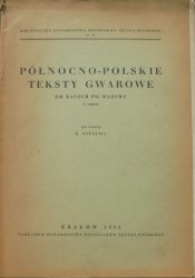 red. K. Nitsch • Północno-polskie teksty gwarowe od Kaszub po Mazury (z mapką)