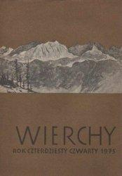 Wierchy • Rocznik czterdziesty czwarty 1975
